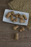 Corks on a plate Royalty Free Stock Image
