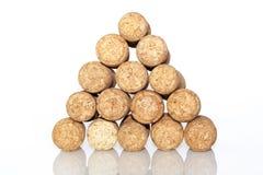 Corks pyramid Stock Photo