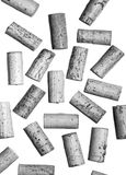 Corks randomly placed in black and white Royalty Free Stock Photos