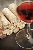 Corks and red wine Royalty Free Stock Images