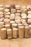 Corks row Stock Photo