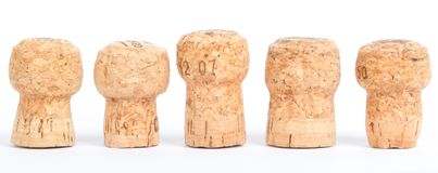 Corks in a row Royalty Free Stock Photography