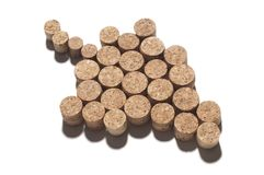 Corks in shape of grape Royalty Free Stock Image