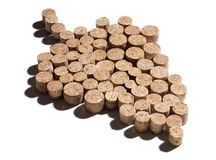 Corks in shape of grape Royalty Free Stock Photos
