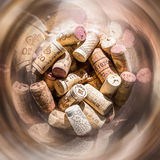 Corks and spiral Stock Images