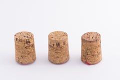 Corks. Three bottle corks Stock Image