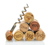 Corks with Vintage Date Royalty Free Stock Photography