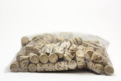 Corks on white background Stock Photo