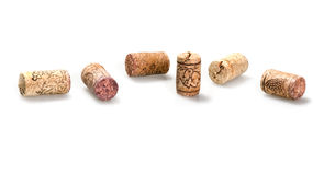 Corks from wine bottles Stock Photos