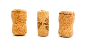 Corks from wine and champagne Stock Photos