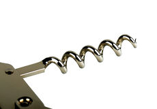 Corkscrew. Photographed on a white background Stock Photo