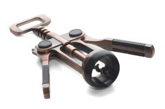 Corkscrew. Isolated on a white Royalty Free Stock Images