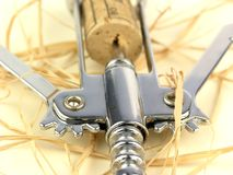Corkscrew. And Cork Stock Photography