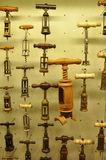 Corkscrew background for wine in Wineshop Royalty Free Stock Images