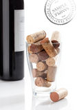 Corkscrew & bottle of wine Royalty Free Stock Photo