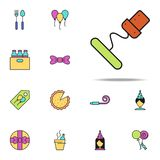 corkscrew colored icon. birthday icons universal set for web and mobile stock illustration