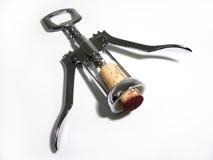 Corkscrew con sughero Fotografia Stock