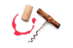 Corkscrew and Cork Royalty Free Stock Image