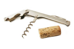 Corkscrew & Cork Stock Images