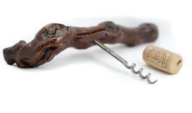 Corkscrew and cork Stock Photos