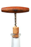 Corkscrew, Cork And Bottle Stock Images