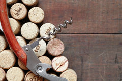 Corkscrew On Corks Stock Image