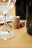 Corkscrew & corks Stock Image
