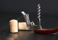 Corkscrew On Dark Royalty Free Stock Image