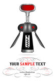 Corkscrew icon. Steel corkscrew icon in realistic  style Royalty Free Stock Images
