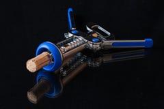 Corkscrew. Metal corkscrew for opening bottles Stock Images