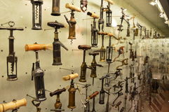 Corkscrew museum collection in Thessaloniki royalty free stock photos