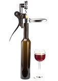 Corkscrew opener for wine bottles Stock Images