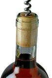 Corkscrew opening bottle Stock Photo