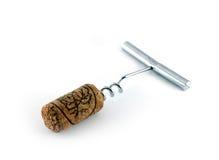 Corkscrew for opening wine bottles Stock Images
