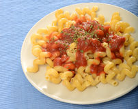 Corkscrew pasta Stock Photo