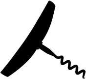 Corkscrew silhouette. Illustration of a modern corkscrew stock illustration