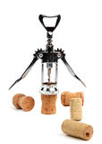 Corkscrew and stoppers Stock Photos
