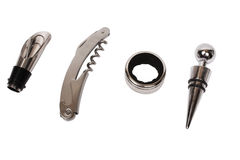 Corkscrew and stoppers Royalty Free Stock Image