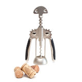 Corkscrew and stoppers. Royalty Free Stock Photography