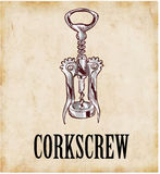 Corkscrew. Vector illustration of a corkscrew Royalty Free Stock Photography
