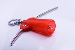 Corkscrew vermelho Fotografia de Stock Royalty Free