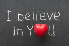 Believe in you Stock Images