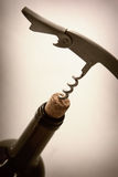 Corkscrew w stopper Obraz Royalty Free