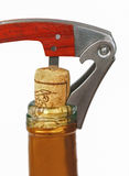 Corkscrew  in a wine bottle Royalty Free Stock Image