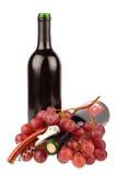 Corkscrew and Wine Bottles Stock Photo
