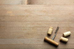 Corkscrew and wine cork Royalty Free Stock Image