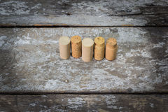 Corkscrew and wine corks Royalty Free Stock Photo