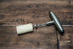 Corkscrew Wine Royalty Free Stock Photo
