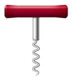 Corkscrew Wine Red Handle Stock Images