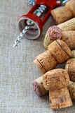 Corkscrews and corks Stock Image